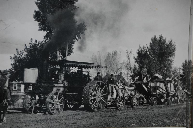 Old Black & White Photo of a Period Tractor
